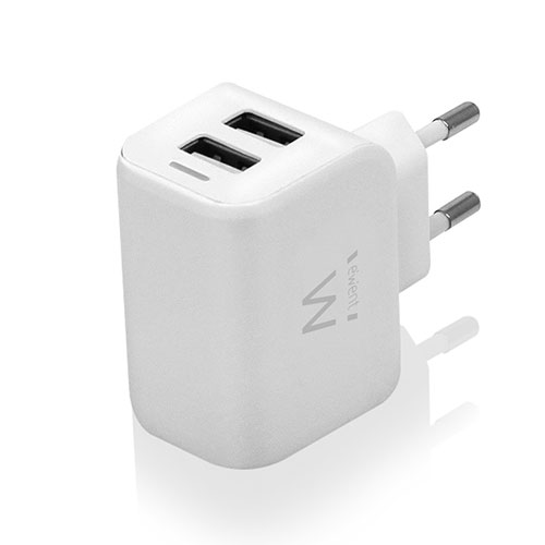 USB Adapter/Charger 2 port 2.4 A (EW1232)